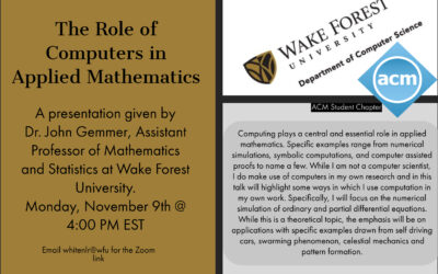 The Role of Computers in Applied Mathematics